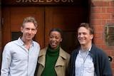 Actors Paul Thornley, Noma Dumezweni and Jamie Parker.