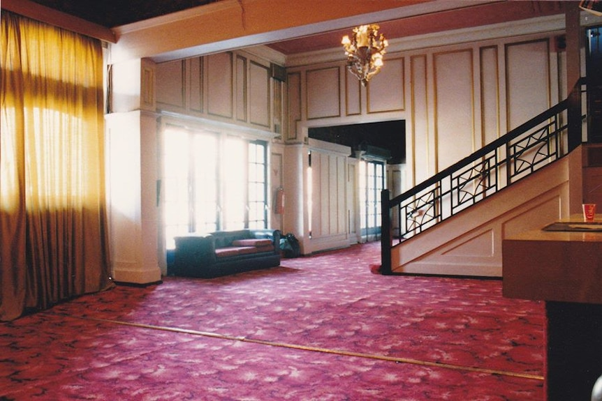 The foyer of the Prince of Wales Theatre in the 1960s