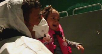 Child rescued from asylum seeker boat custom
