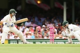 Under scrutiny...Kamran Akmal had a disastrous second Test behind the stumps in Sydney.