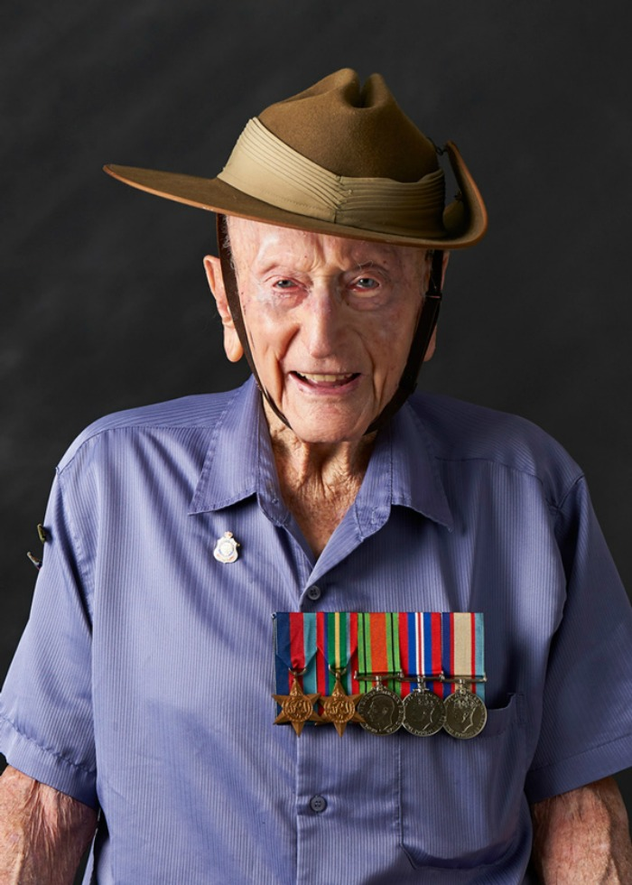 Veteran Ross Foreman said wears his medals in honour of mates who died during WWII.