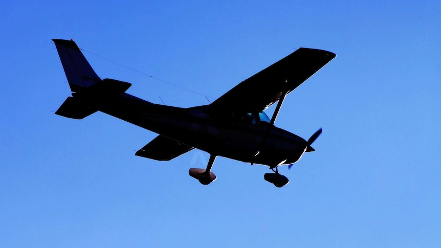A light aircraft during flight.