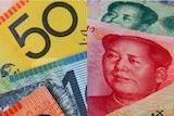 Australian dollar notes and Chinese Yuan.