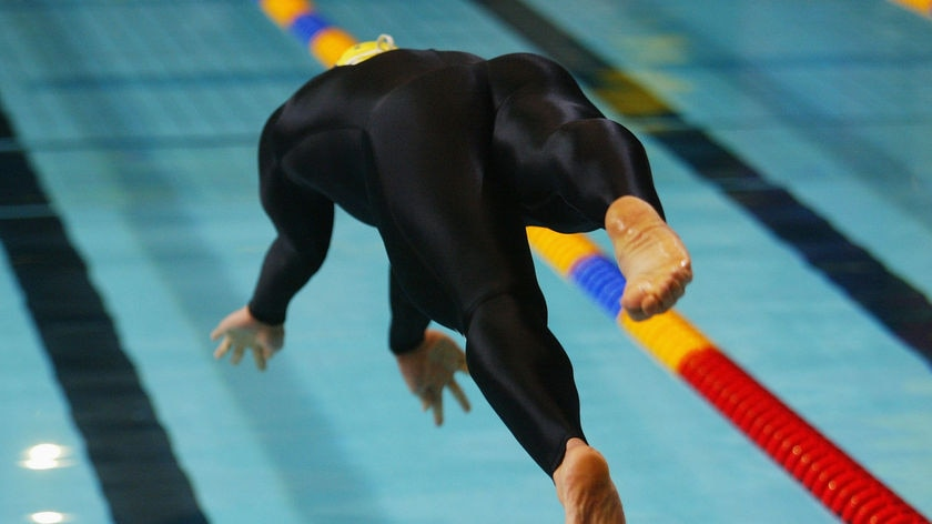 Outlawed: Ian Thorpe drove the popularity of the full suit.