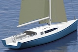Concept art of 50-foot yacht