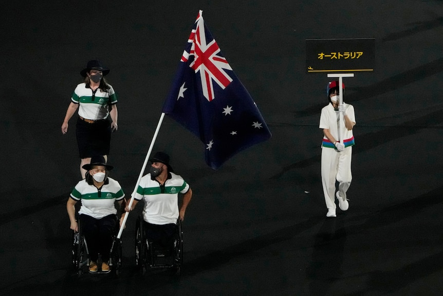 Australia enters in the opening ceremony of the Paralympics