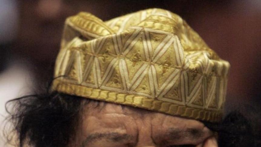 Gaddafi listens in at AU Summit