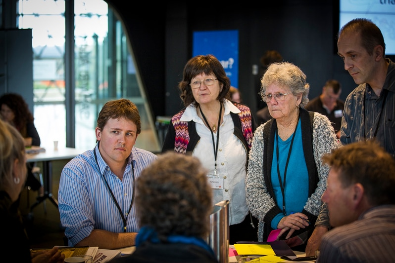 Members of a citizens' jury in South Australia.