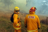 CFA firefighters at Lancefield fire in 2015
