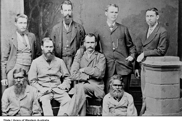 Alexander Forrest's 1879 Kimberley expedition team.