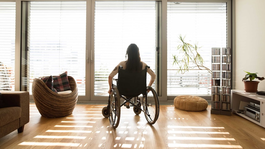 A generic images of an unidentifiable woman in a wheelchair