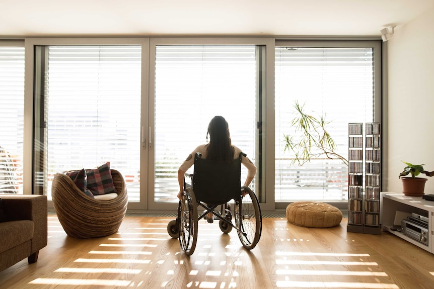 A generic image of an woman in a wheelchair