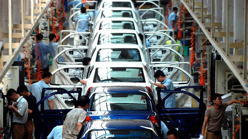 A Ford Fiesta car plant in China, 2003