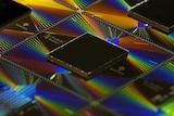 Close-up photo of Google's Sycamore processor