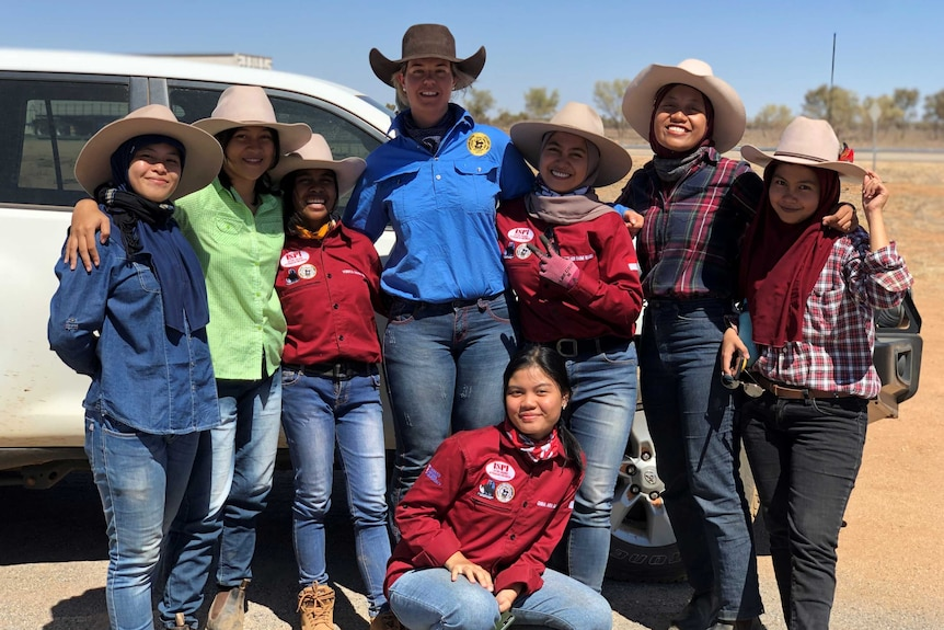 Female NIAPP participants with NTCA project manager Steph Frankham