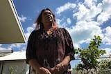 Mother of Zak Grieve Glenice Grieve looks to the sky