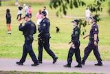 NSW Police patrol Sydney Park