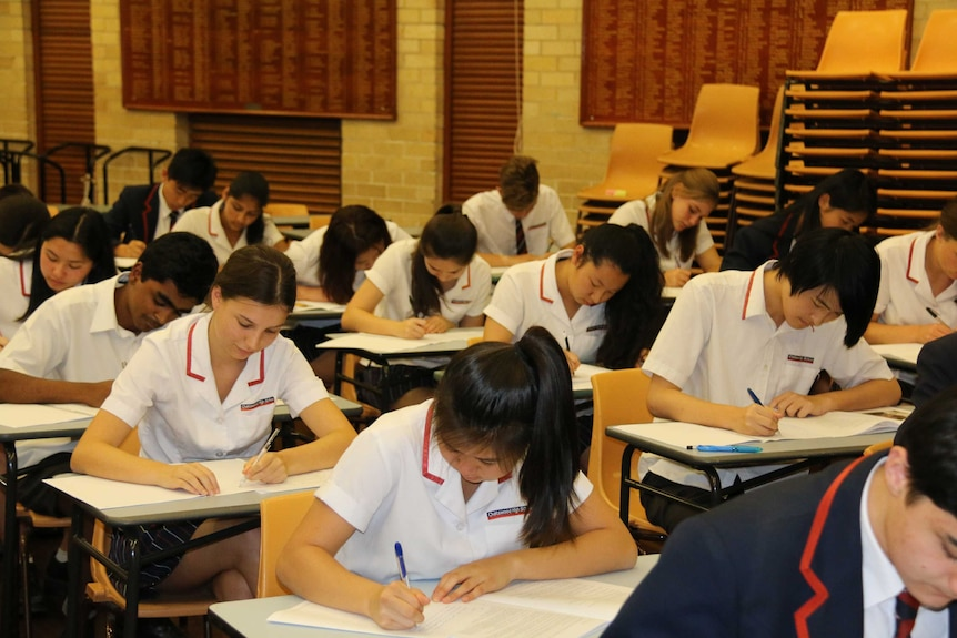 Chatswood High School students sit HSC exams