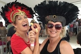 A couple of ladies at the cheese tasting event in Metricup