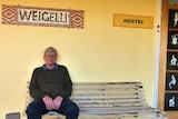 Case worker Norm Henderson sitting outside Weigelli rehab centre