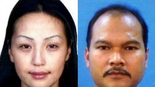 A passport photo of murder victim Altantuya Shaariibuu, and the Malaysian bodyguard wanted for her murder