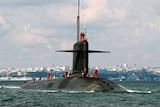 A French nuclear sub.