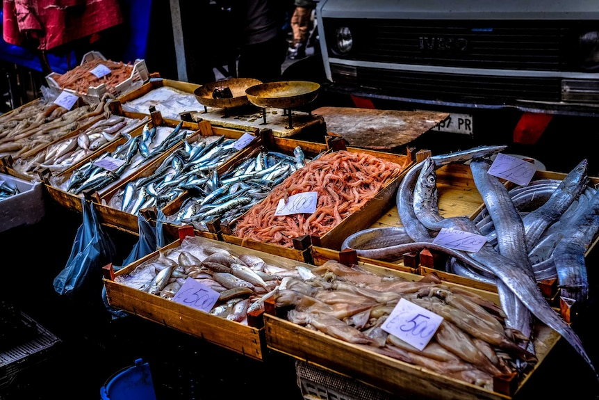 A fish market in Italy.