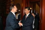 Abbott and Xi Jinping