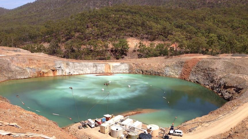 Virtual Curtain treating mine waste water