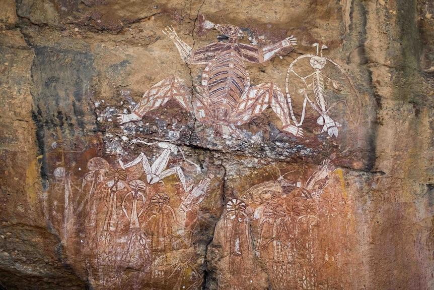 Aboriginal rock paintings in Kakadu National Park.