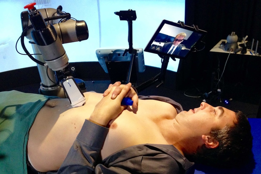 With the new technology, the patient could be up to 1,000 km away from the sonographer.