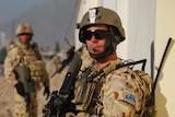 Australian soldier provides protection in Tarin Kot