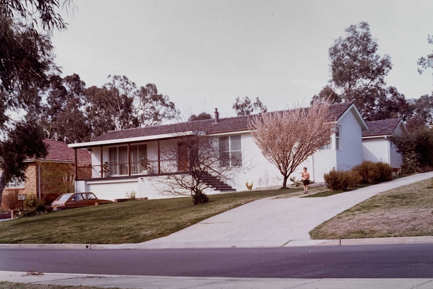 An old house in Campbell, 1970s.