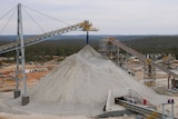 Crushed spodumene ore at the Talison Lithium mine in Greenbushes