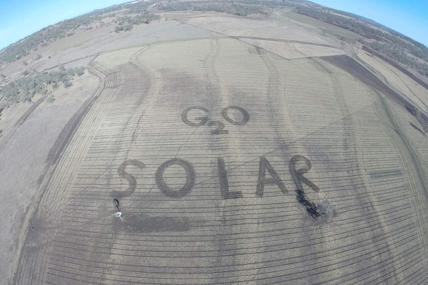 Rob McCreath's field is sending a climate change message to G20 organisers.