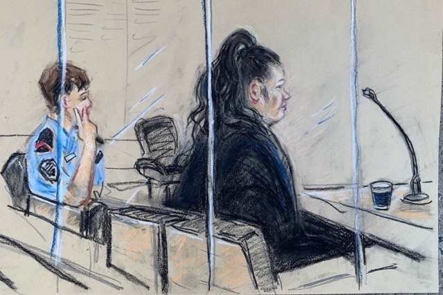 A court sketch of Anne Maree Lee