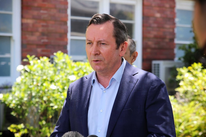 WA Premier Mark McGowan pictured outside King Edward Memorial Hospital.