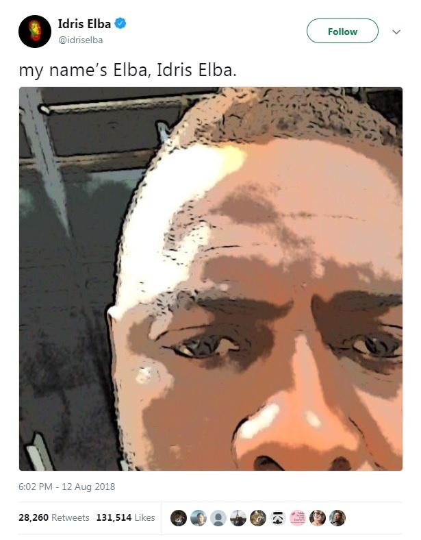 British actor Idris Elba's tweet about becoming the next James Bond.
