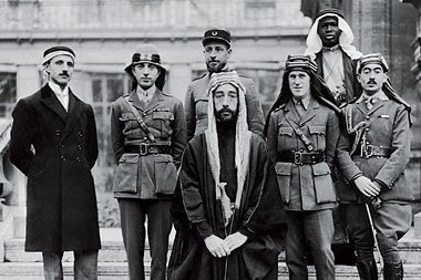 Faisal I with Lawrence of Arabia