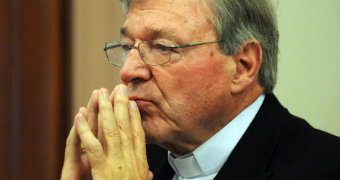 Cardinal George Pell appears at the Victorian Government inquiry into child abuse.