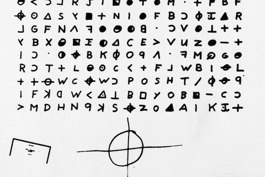 a cryptogram sent to the San Francisco Chronicle in 1969 by the Zodiac Killer