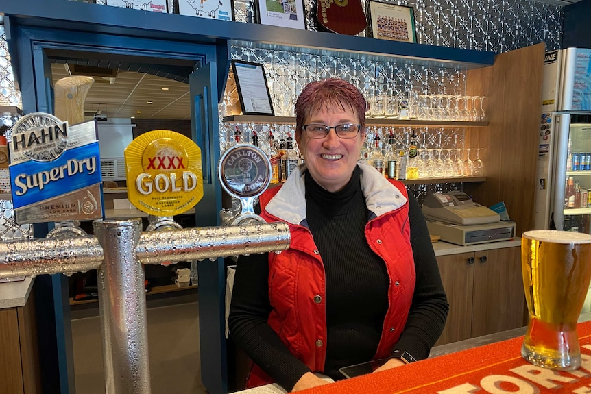 Jacquie Peterson owns the Club Hotel in Kaniva in far-west Victoria.