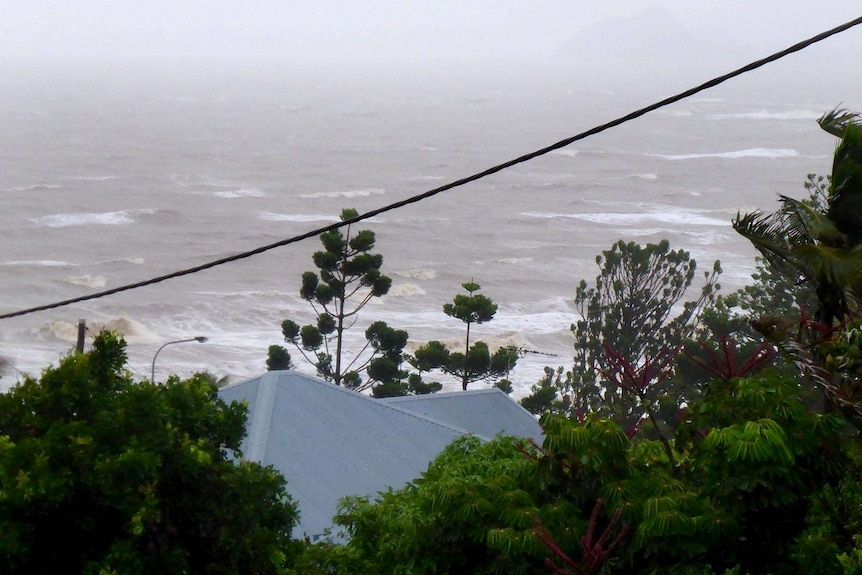 View of water as TC Marcia approaches