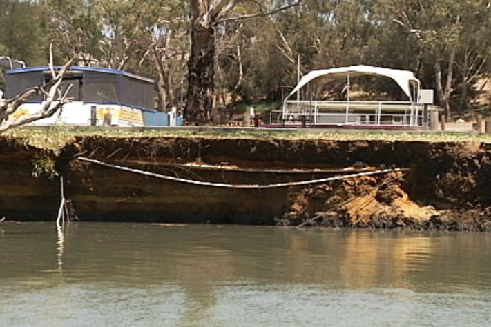 collapsed Murray river bank