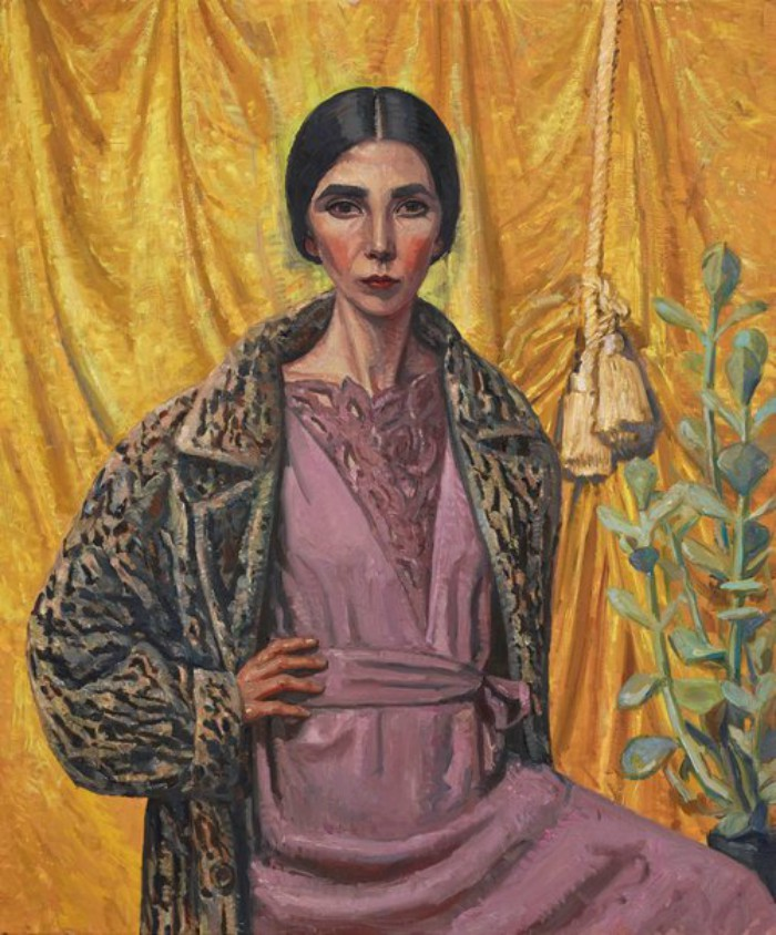 An image of Yvette Coppersmith's Self-portrait, after George Lambert.