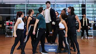 Australian cast rehearsing Hamilton