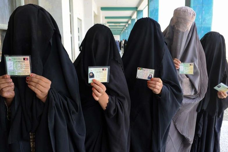Burqa-clad Afghan women. (Banaras Khan: AFP)