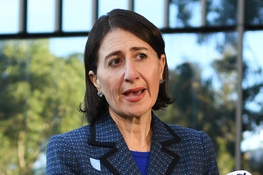 NSW Premier Gladys Berejiklian address the media