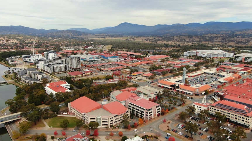 Houses and apartments dot the Tuggeranong town centre