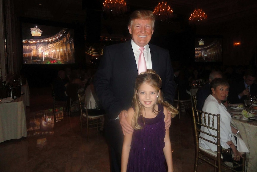 US President-elect Donald Trump with singer Jackie Evancho